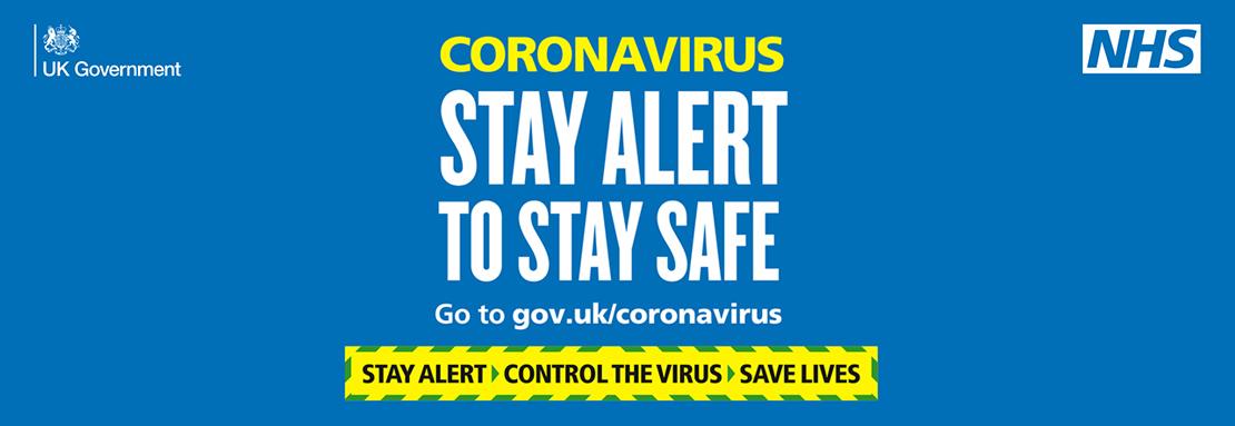 gov.uk Stay Alert message