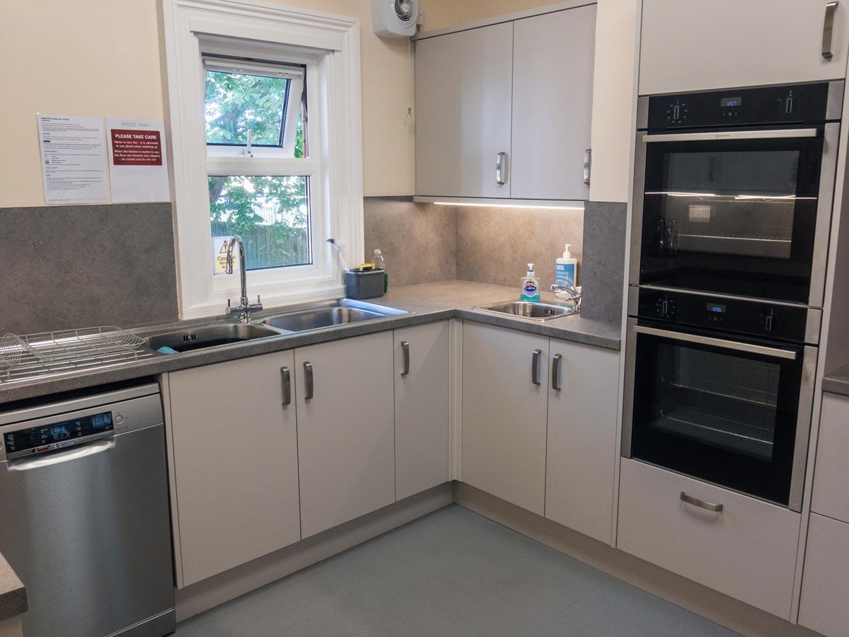 Dumbleton Village Hall's modern kitchen