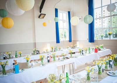 Wedding party at Dumbleton Village Hall