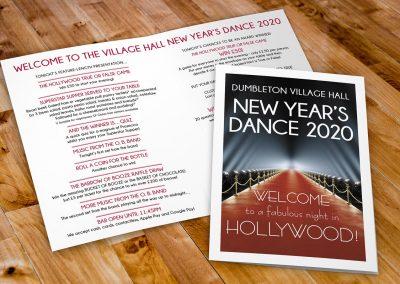 Dumbleton Village Hall New Year's Dance 2020 programme