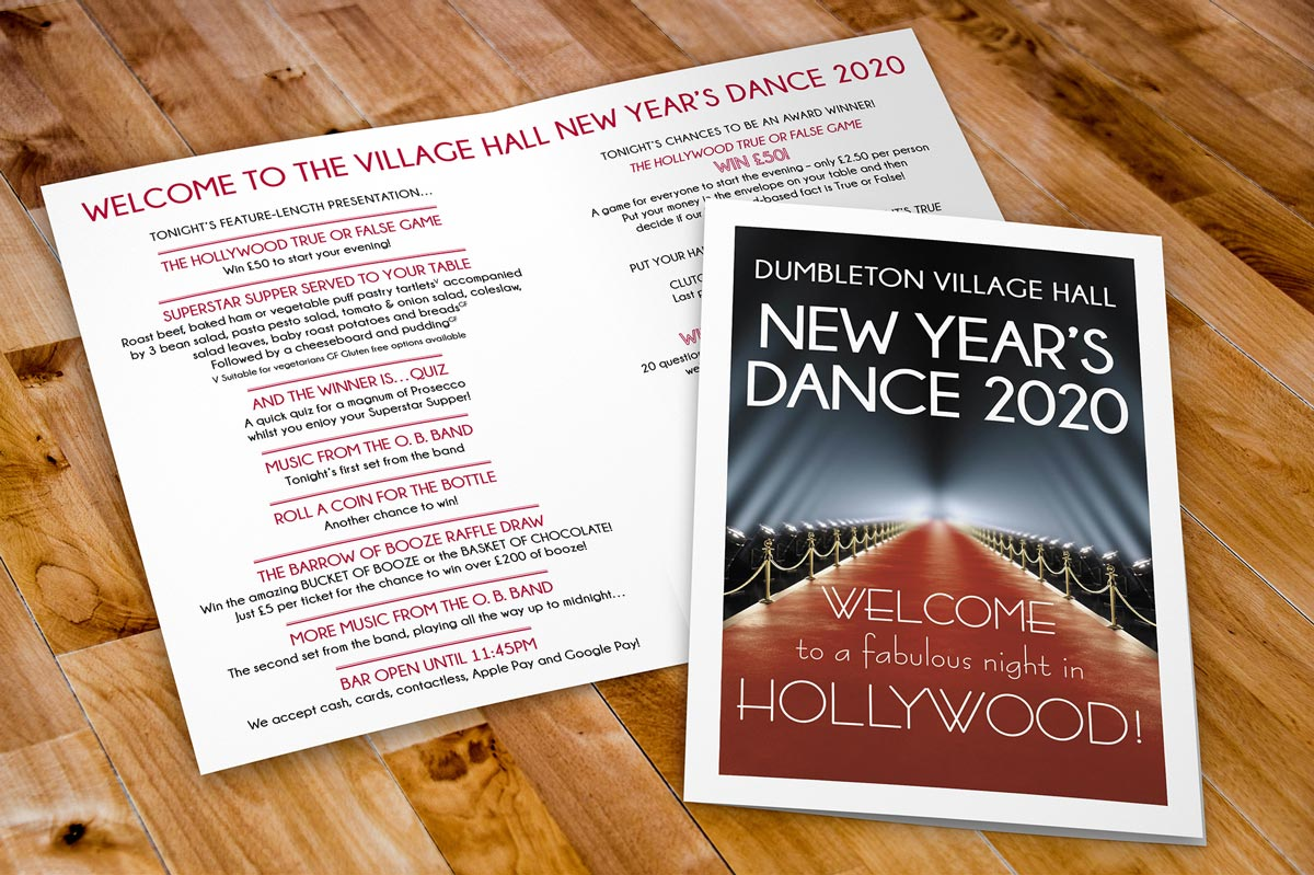 Dumbleton Village Hall New Year's Dance 2020 programme