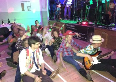Dancers and band at Dumbleton Village Hall