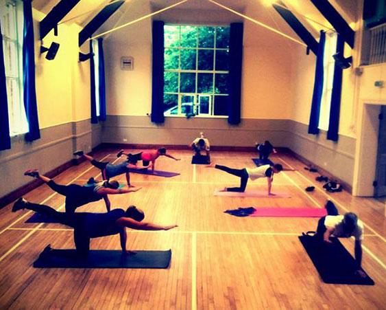 Fitness class at Dumbleton Village Hall