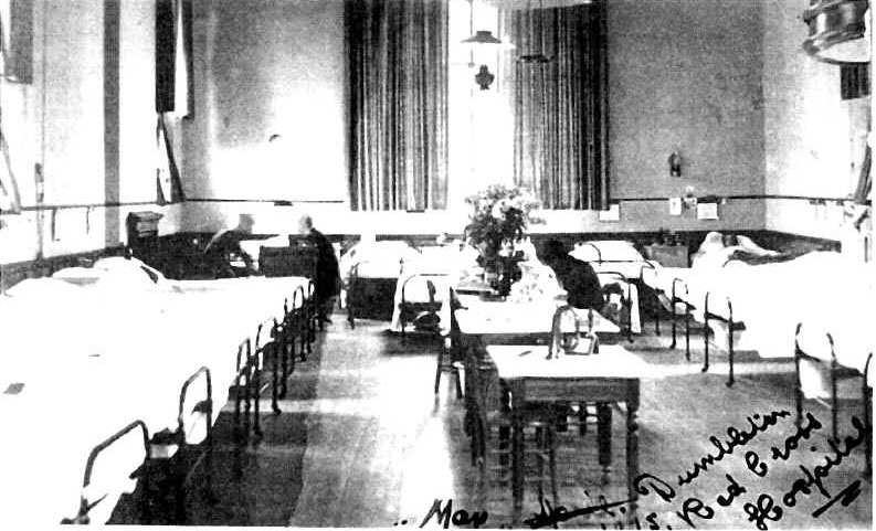 Mono photo of Dumbleton Village Hall as VA Hospital